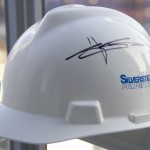 Original WTC Construction Hard Hats signed by Larry Silverstein