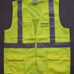 Original WTC Construction Safety Vest signed by Larry Silverstein